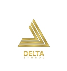 Golden Delta sign vector image vector image