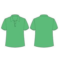Green tshirt vector image