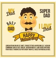 Greeting Card Dad vector image vector image