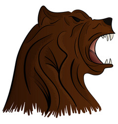 Grizzly bear mascot head graphic vector