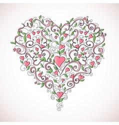Heart-shaped ornament vector