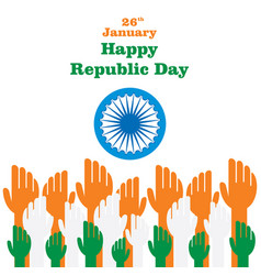 indian republic day design vector image
