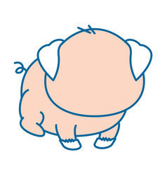 isolated cute standing pig vector image