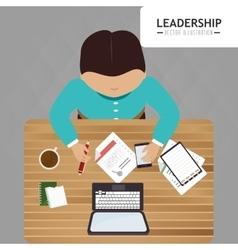 Leadership business entrepreneur design vector