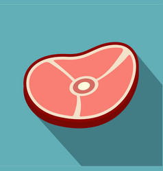Meat steak icon flat style vector