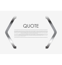 Quote blank metal abstract design vector