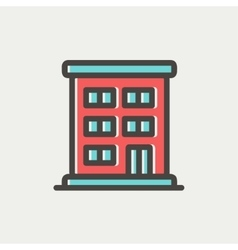 Residential building thin line icon vector image