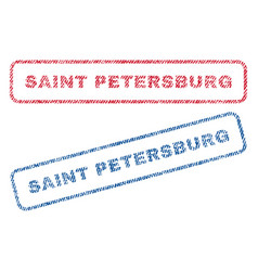 Saint petersburg textile stamps vector