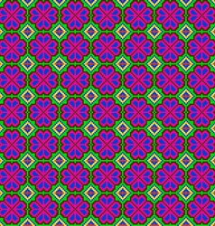 Seamless mosaic of geometric ornament with pink vector