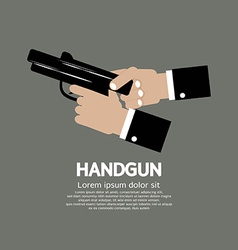 Semi-automatic handgun vector