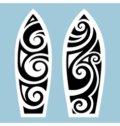 Surf board tattoo style vector