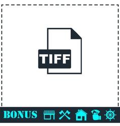 Tiff file icon flat vector