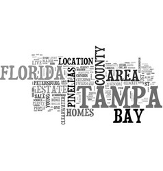 What we love about tampa bay florida text word vector