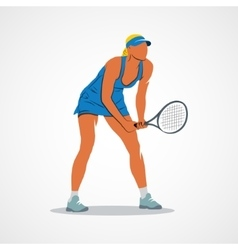 Tennis racket athlete vector