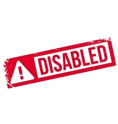 Disabled stamp rubber grunge vector image