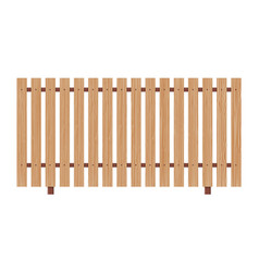 Wooden fence on white background vector