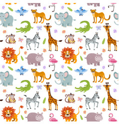 Children seamless wallpaper with cute and vector