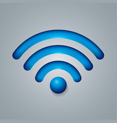 wireless network symbol object vector image