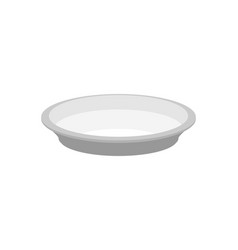 Empty plate isolated large dish on white vector