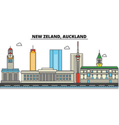 new zealand auckland city skyline architecture vector image