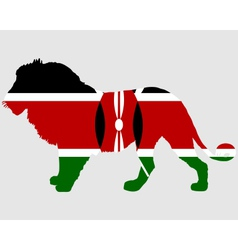 Lion kenya vector