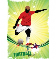 poster soccer vector image