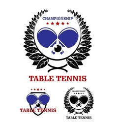 Table tennis emblems vector