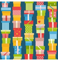 Seamless pattern with presents vector