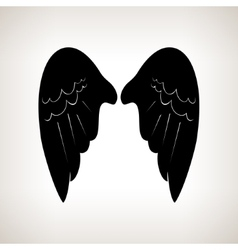 Silhouette wings vector