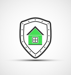 Shield and real estate vector