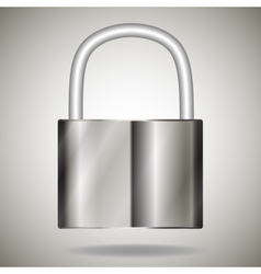 Lock metal vector