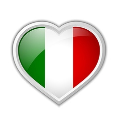 Italian heart icon vector