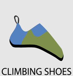 Climbing shoes icon flat design vector