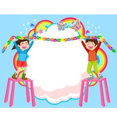Decorating kids vector
