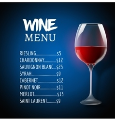 Wine menu card design template wine list template vector