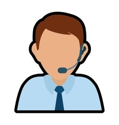 Operator man avatar customer service vector