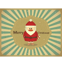 Santa Claus on grunge background vector image