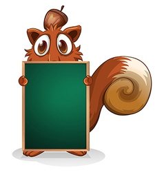 A squirrel hiding at the back of an empty vector image