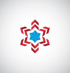 abstract star symbol logo vector image vector image