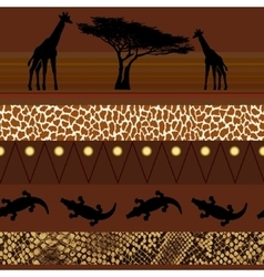 African style Seamless pattern vector image vector image