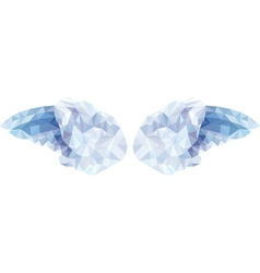 angel wings in the style of low poly vector image