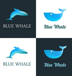 Blue whale logo vector