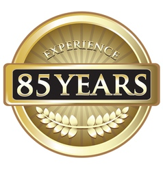 Eighty five years experience gold vector