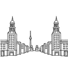 Frankfurter tor berlin vector
