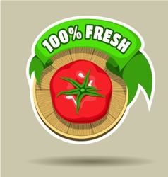 Fresh tomato sticker vector