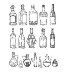 glass jars and bottles sketch vector image