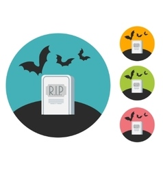 grave flat vector image vector image