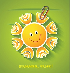 Greeting card with sun vector image vector image