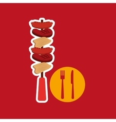 Grill fast food concept grilles kebab vector