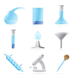 Icons for chemical lab vector image vector image